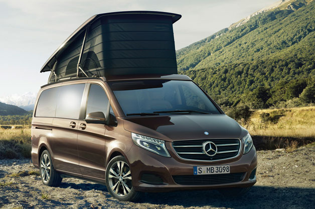 mercedes takes vw westfalia camper idea upscale with new. Black Bedroom Furniture Sets. Home Design Ideas
