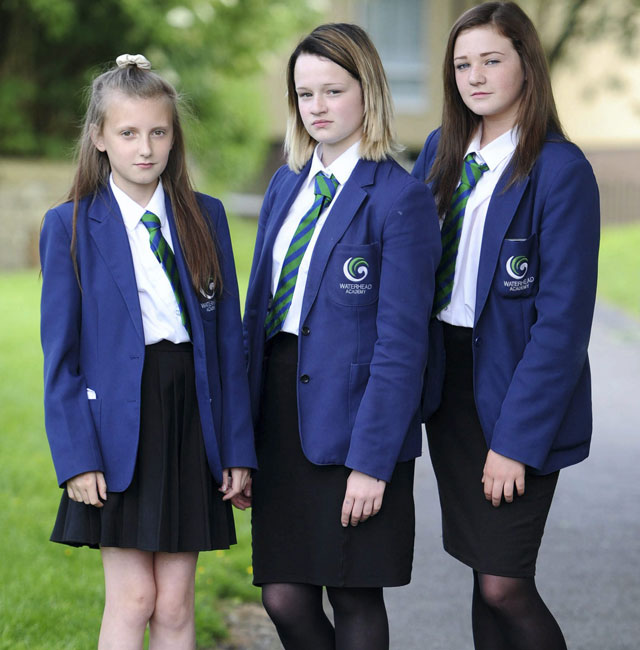 School sent home seven girls because it said their knee length skirts