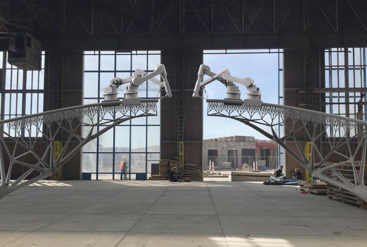 Amsterdam: Die Brücke aus 3D-Drucker-Bots kommt