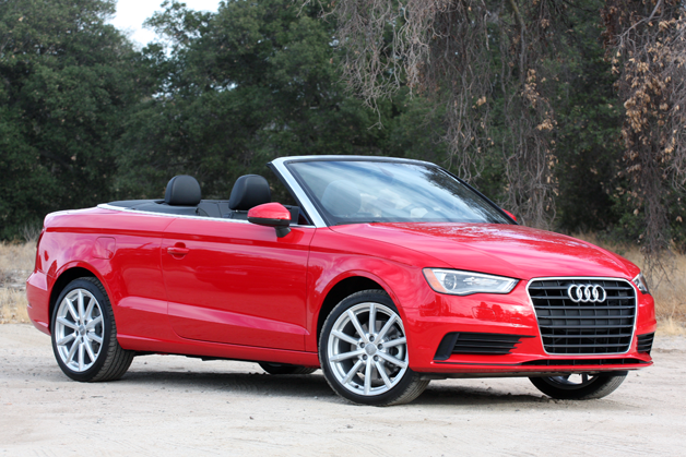 2015 Audi A3 Cabriolet  - front three-quarter view, red