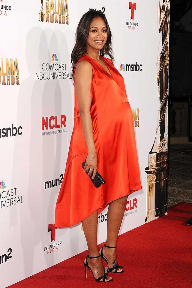 zoe-saldana-pregnant-alma-awards