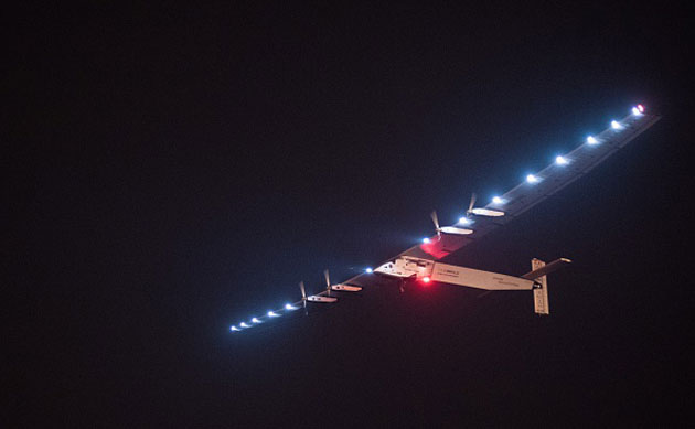 Solar Impulse begins its sun-powered flight across the Pacific