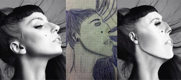 best worst examples of celebrity fan art, bad celebrity drawings, lady gaga