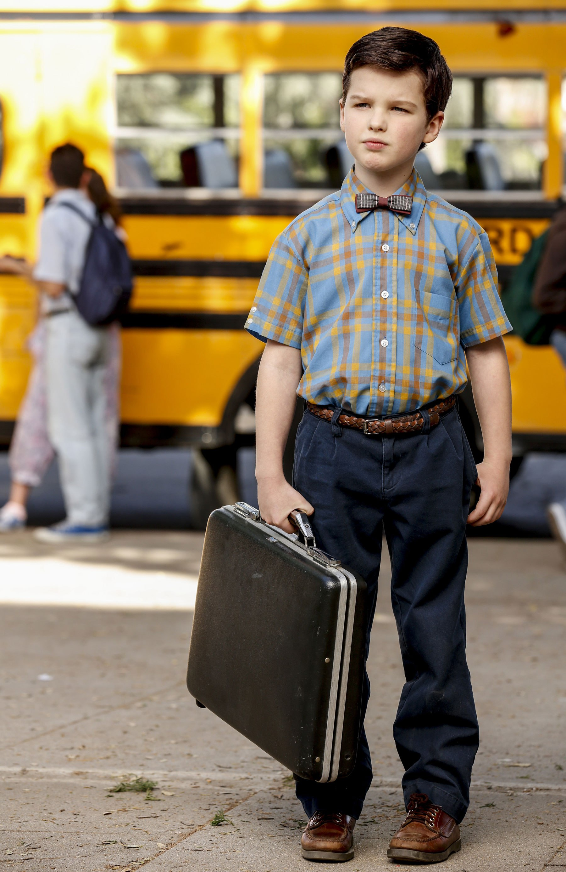 "YOUNG SHELDON is a new half-hour, single-camera comedy created by Chuck Lorre and Steven Molaro, that introduces ""The Big Bang Theory's"" Sheldon Cooper (Iain Armitage), a 9-year-old genius living with his family in East Texas and going to high school. YOUNG SHELDON will have a special Monday launch behind the season premiere of THE BIG BANG THEORY on Sept. 25 (8:30-9:00 PM, ET/PT). On Nov. 2, YOUNG SHELDON will move to its regular time period, Thursdays (8:30-9:00 PM, ET/PT) on the CBS Television Network. Photo: Robert Voets/CBS ©2017 CBS Broadcasting, Inc. All Rights Reserved."