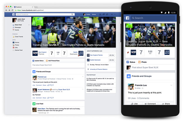Facebook wants to replace Twitter as your Super Bowl companion