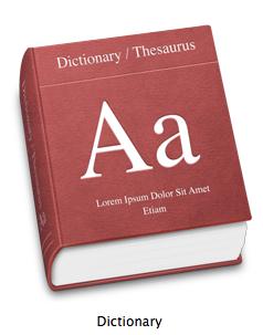 Dictionary app, OS X