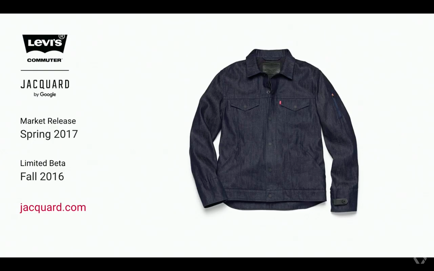 Google and Levis are releasing their smart jacket early next year