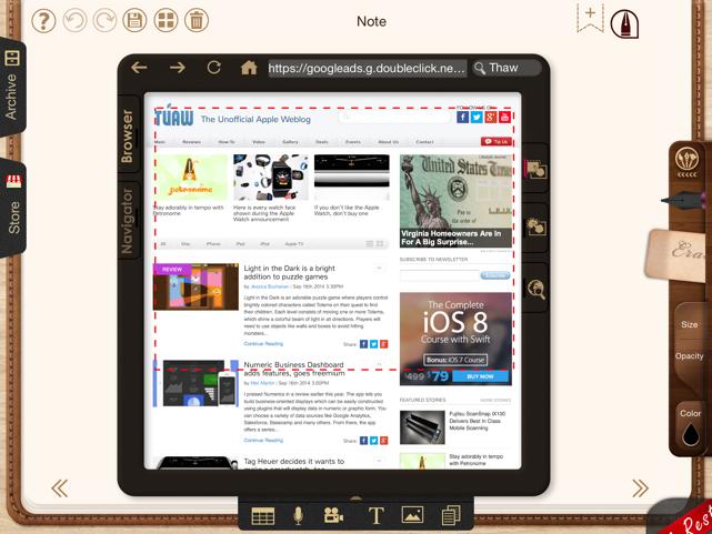 NoteLedge iOS app