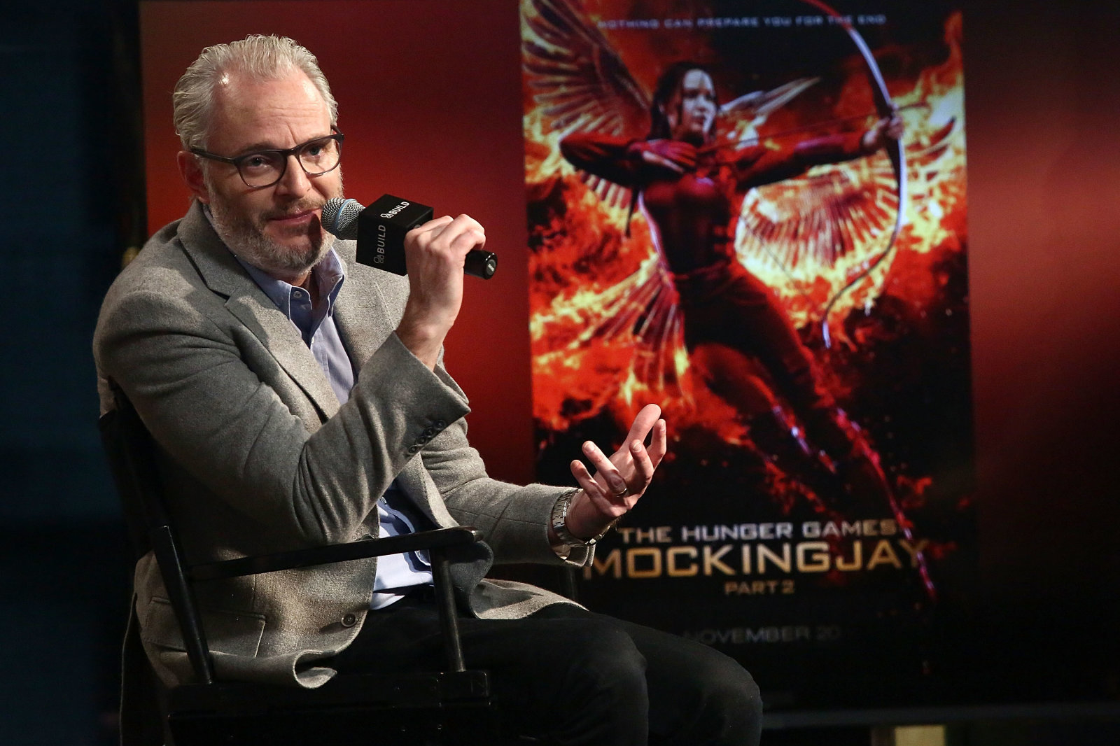 "NEW YORK, NY - NOVEMBER 20:  Director Francis Lawrence attends AOL BUILD Series: Francis Lawrence, ""The Hunger Games: Mockingjay Part 2"" at AOL Studios on November 20, 2015 in New York City.  (Photo by Astrid Stawiarz/Getty Images)"