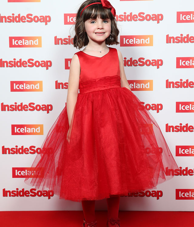 Emmerdale's Verity Rushworth reunited with on screen daughter at Inside Soap Awards