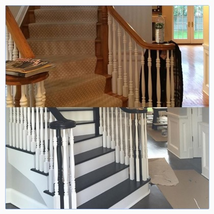 how to transform your staircase with paint