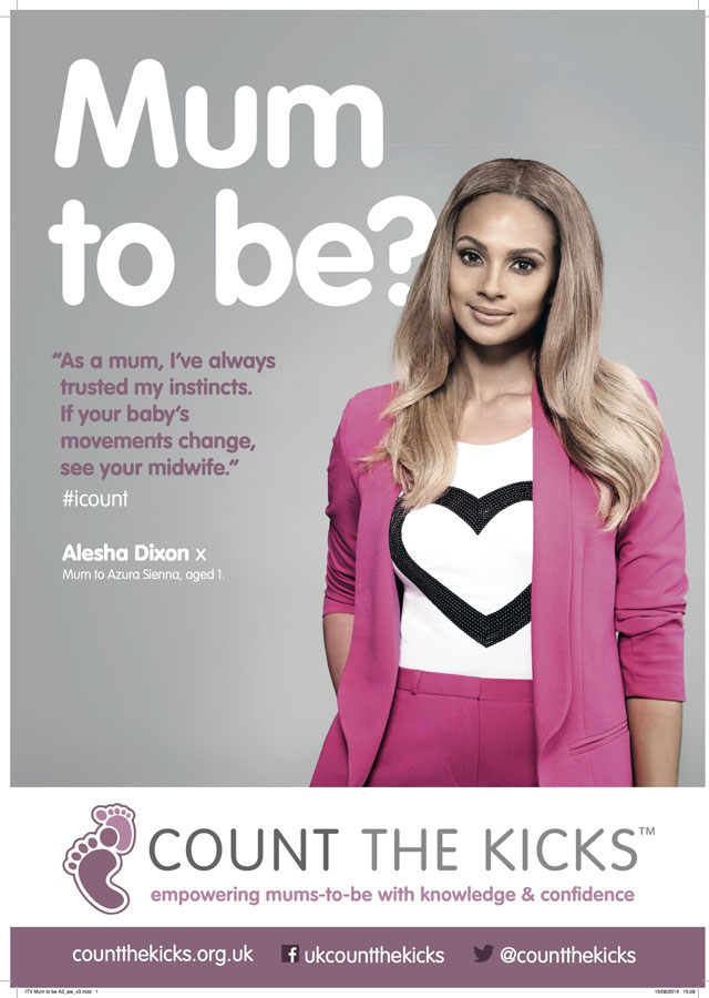 Holly Willoughby and Alesha Dixon urge pregnant women to 'count the kicks'