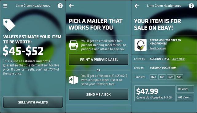 ebay valet app