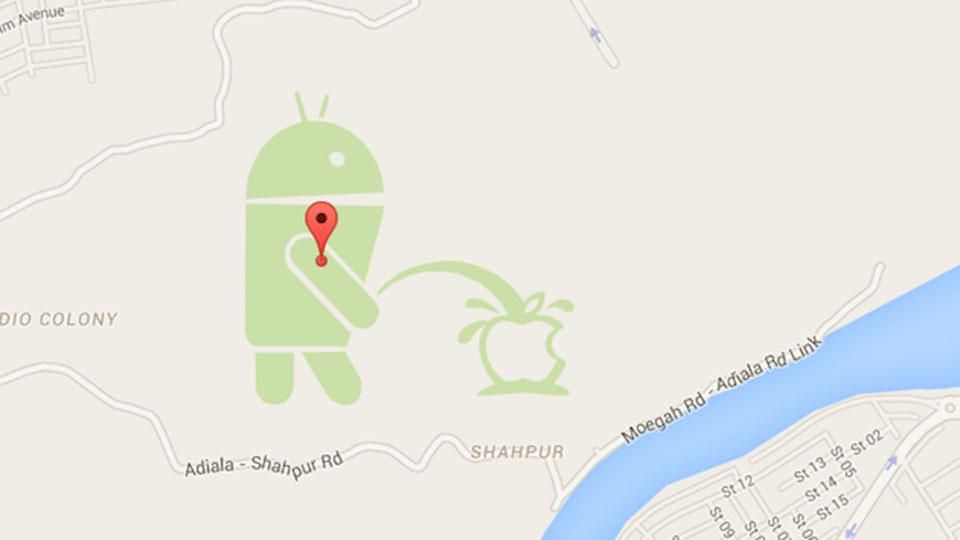 Google Map Maker's defacement by overzealous fans