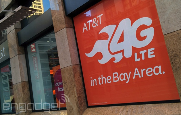 AT&T LTE ad at a San Francisco store