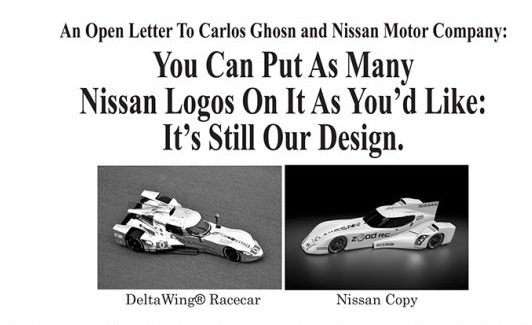 Panoz, Design, designschutz, ZEOD, Lawsuit, Klage, ad, Nissan, Deltawing, copy, plagiat, kopiert, Nissan