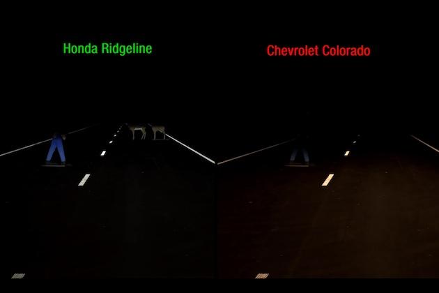【ビデオ】IIHSのピックアップ・トラックを対象としたヘッドライト性能テスト、ホンダ「リッジライン」を除き軒並み低評価