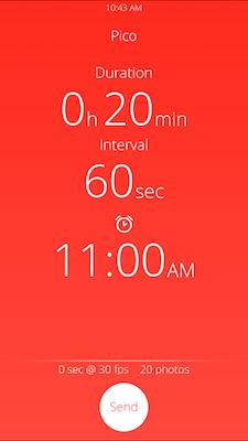Pico app interface