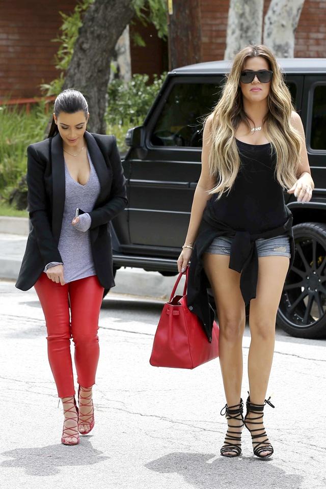 kim-kardashian-red-leather-trousers-khloe-daisy-dukes