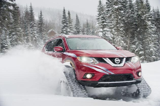 【ビデオ】雪上仕様の日産「ローグ・ウォーリア」がパワフルに雪山を駆け巡る!