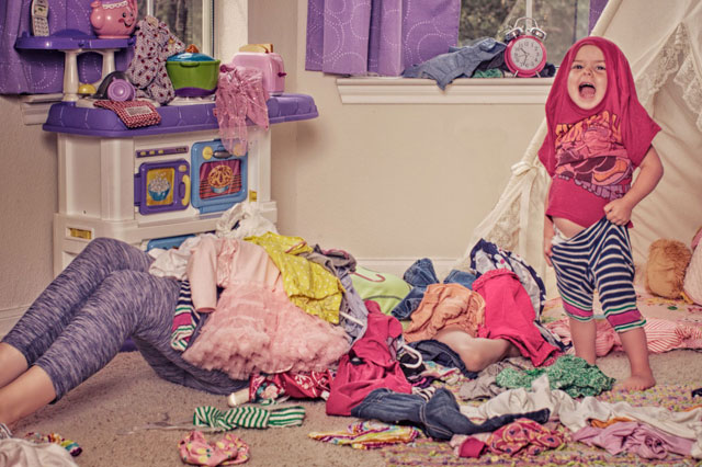 The chaotic, messy toddler years in pictures