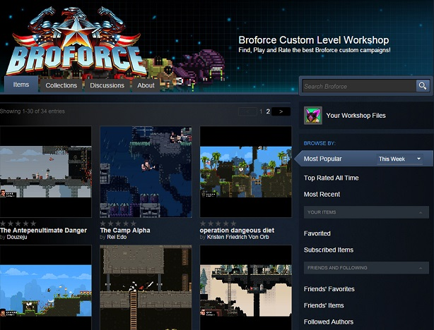 Broforce gets level editor, Mad Max and Kill Bill bros