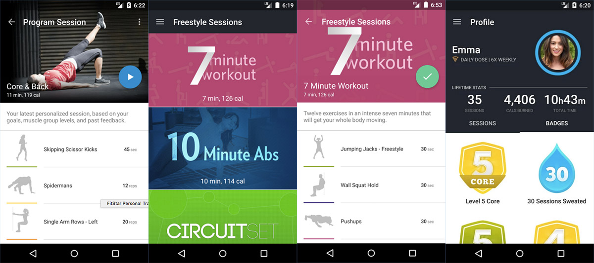 Fitbit-owned app creates customized exercises on Android devices