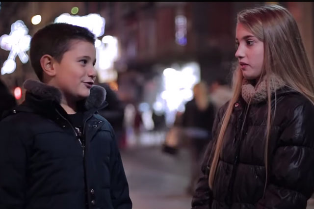 Cameraman films boys reactions when he asks them to slap a girl (video)