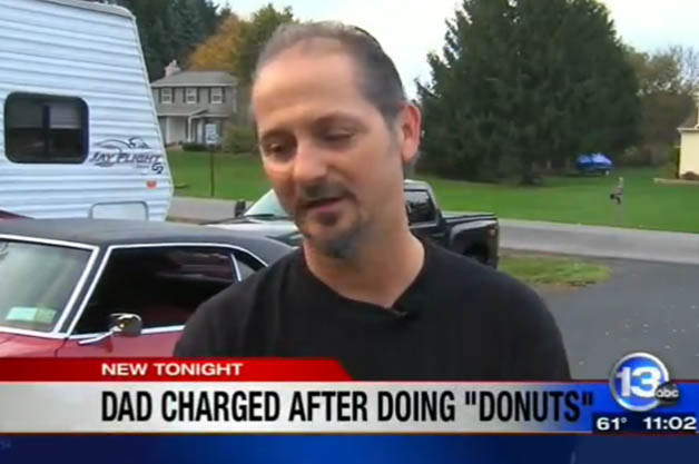 Father does donuts with son in '68 Camaro, ends up in handcuffs