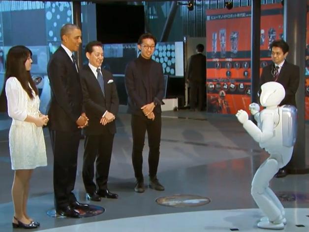 Pres. Obama and Honda's ASIMO