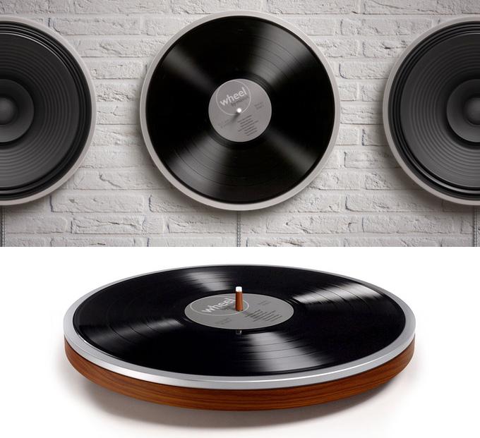 Wheel: Plattenspieler mit unsichtbarem Tonabnehmer