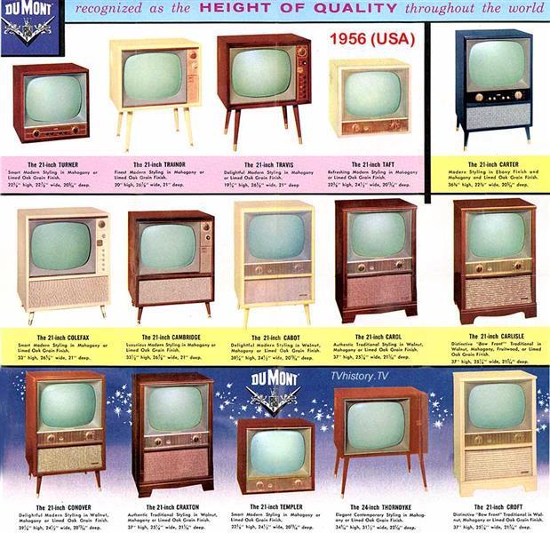 1956 DuMont Televisions