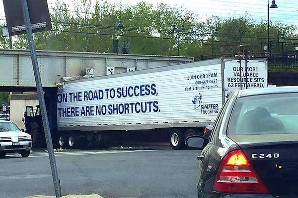 funny ironic photos, irony photos, ironic success truck