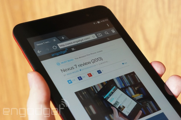 ASUS MeMO Pad 7 showing its competition