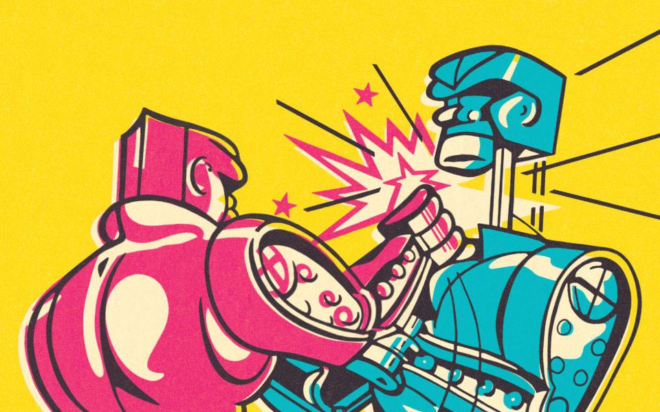 Rock 'em Sock 'em Robots, er, Androids