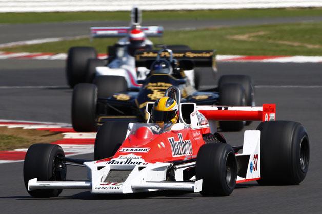 Historic F1 racecars