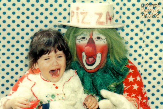 Awkward Family Photos: This is why we're petrified of clowns!