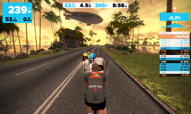 Stationary bike MMO lets you race against the world without leaving home