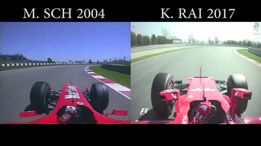 F1-Evolution: 2004 vs. 2017