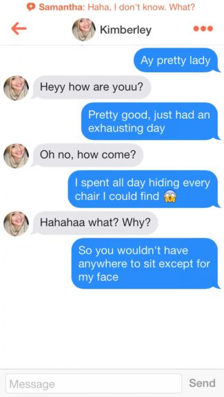 tinder hookup texts Hook-up apps are more arousing than actual hook-ups: tinder doesn't only gamify the dating process, it also sexualizes it it isn't just a way to get a date with.