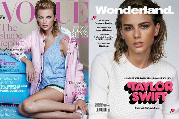 Taylor vs. Taylor. Photo: British 'Vogue'/'Wonderland'