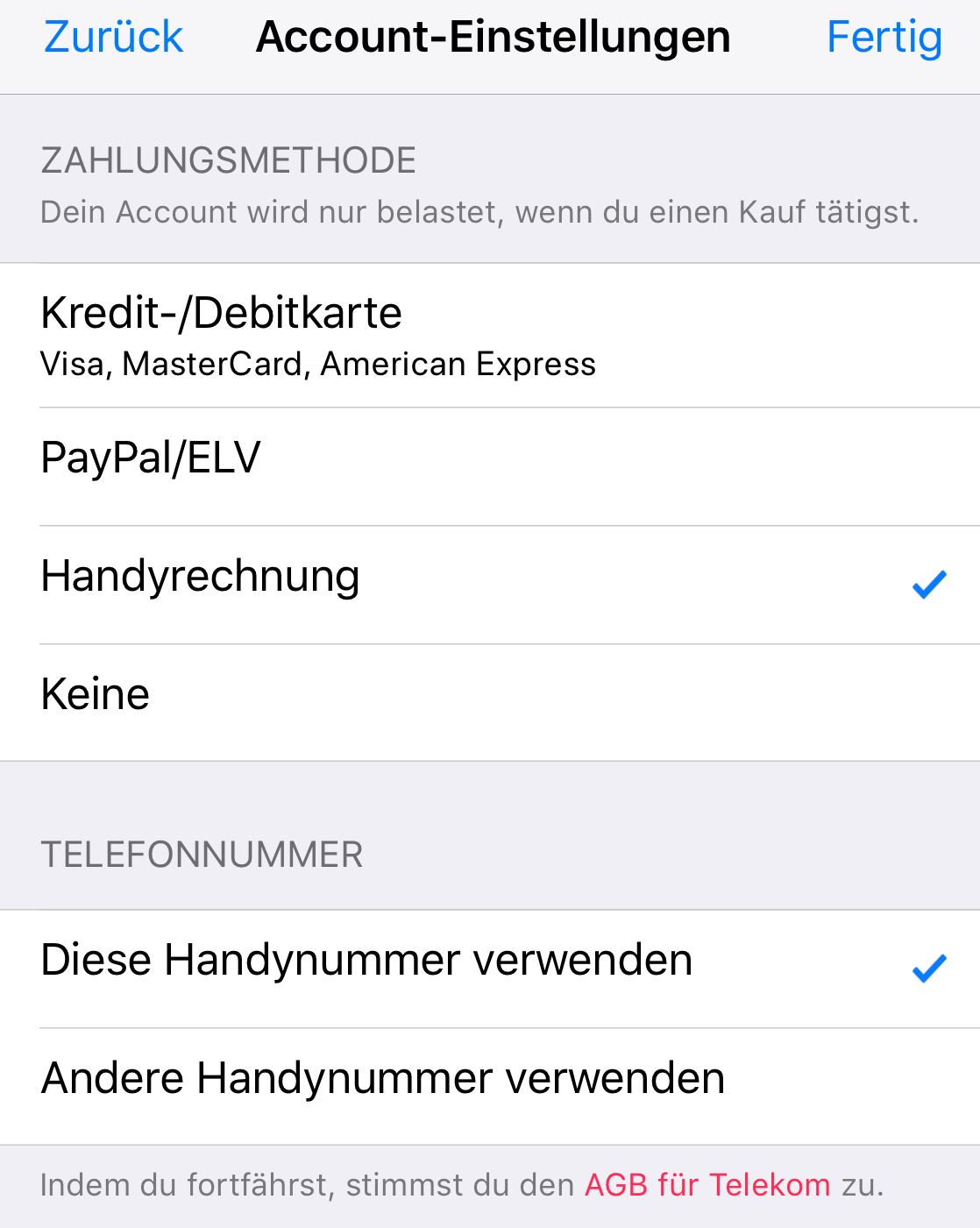 telekom bezahlung im apple app store jetzt auch via handy rechnung engadget deutschland. Black Bedroom Furniture Sets. Home Design Ideas