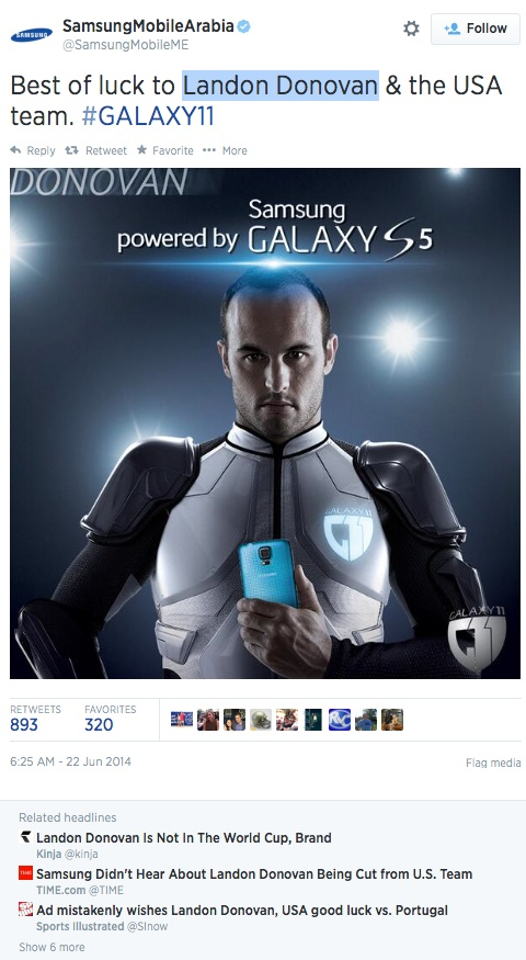 Oops! Samsung Social Media Fail