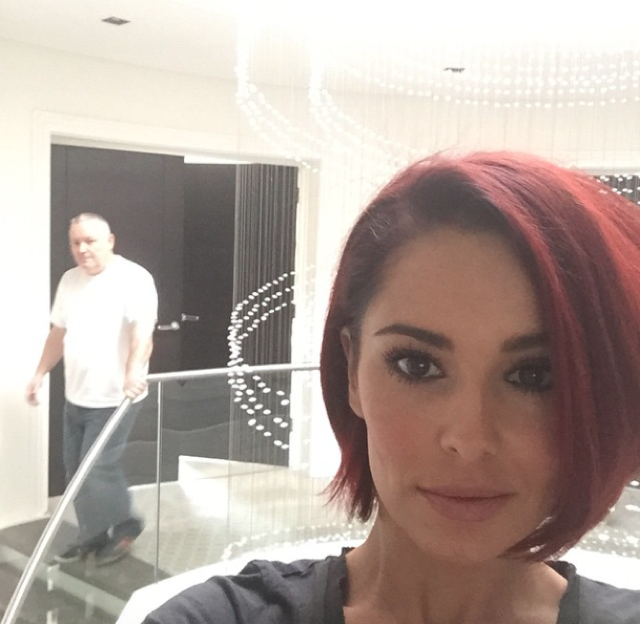 Cheryl Fernandez-Versing shows off new bright red hair on Instagram