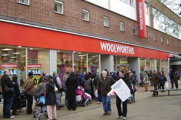 memorable businesses that went bust, famous failed businesses, woolworths
