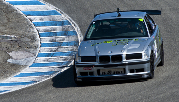 EV West BMW M3 winning its class at 2014 SportElectric TT