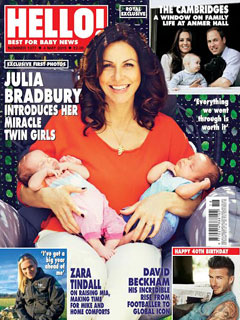Julia Bradbury and twins
