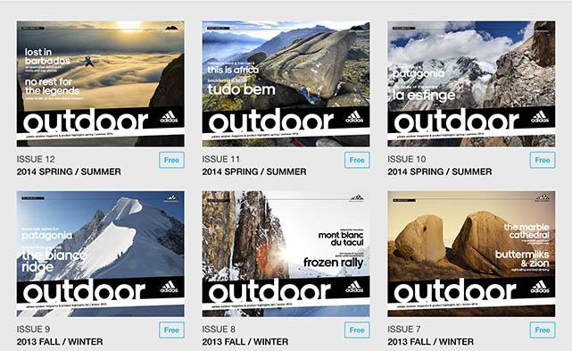 Adidas Outdoor Magazine screenshots