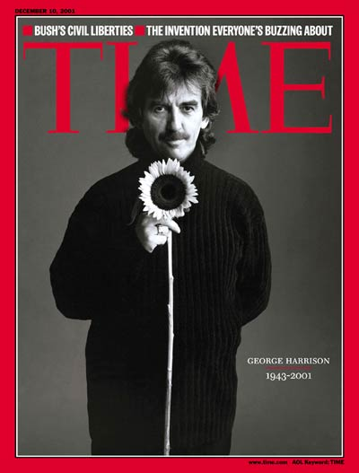 george harrison time magazine cover, george harrison died, george harrison 2001