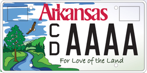 State of arkansas environmental license plate
